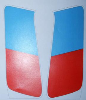 Aufkleber rot/blau  Paar