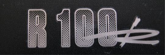 Aufkleber R 100 R