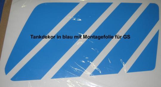 Aufkleber  blau/blau