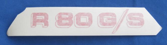 R 80 G/S Aufkleber L. odere R. rot/weiß