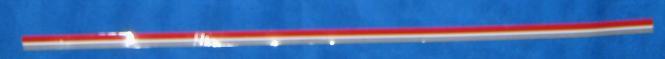Zierstreifen weiß/grau/rot 620 mm
