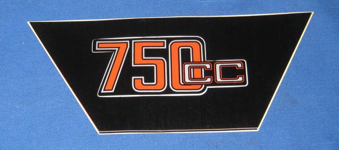 Aufkleber Siebdruck 750 cc rot sil